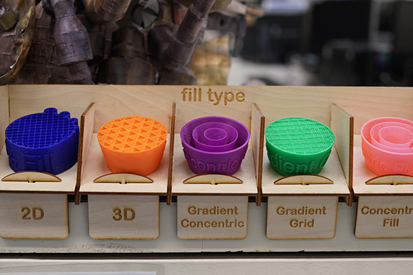 3D printing fill options in Makerspace